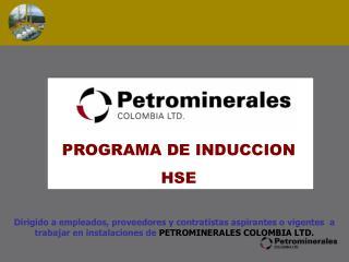 PROGRAMA DE INDUCCION  HSE