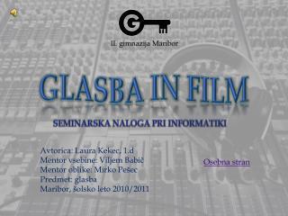 GLASBA IN FILM