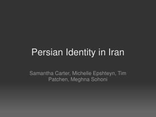 Persian Identity in Iran