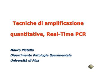 Tecniche di amplificazione quantitative, Real-Time PCR