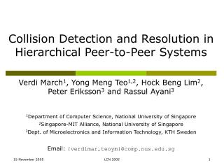 Collision Detection and Resolution in Hierarchical Peer-to-Peer Systems