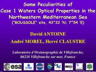 Some Peculiarities of  Case 1 Waters Optical Properties in the  Northwestern Mediterranean Sea