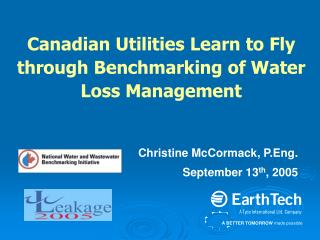Canadian Utilities Learn to Fly through Benchmarking of Water Loss Management