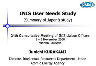 INIS User Needs Study (Summary of Japan's study)
