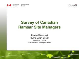 Survey of Canadian Ramsar Site Managers