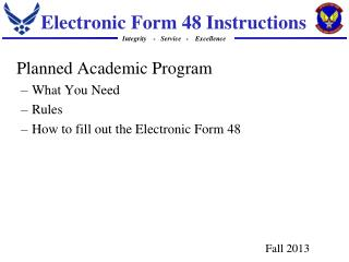 Electronic Form 48 Instructions