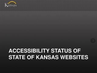 Accessibility Status of State of Kansas Websites