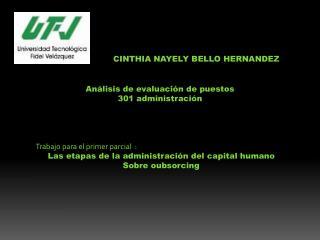 CINTHIA NAYELY BELLO HERNANDEZ