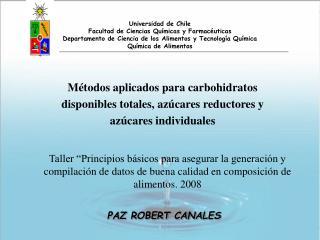 Universidad de Chile Facultad de Ciencias Químicas y Farmacéuticas