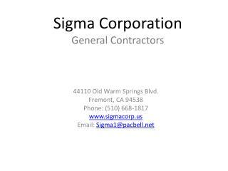 Sigma Corporation General Contractors