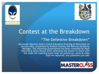 "Contest at the Breakdown ""The Defensive Breakdown"""