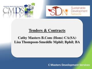 Tenders & Contracts Cathy Masters  B.Com  ( Hons ) CA(SA)