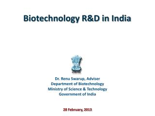 Biotechnology R&D in India