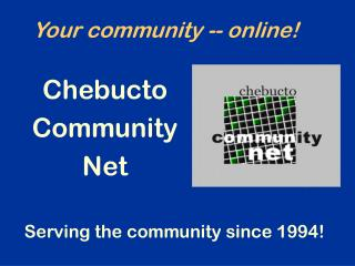 Your community -- online!