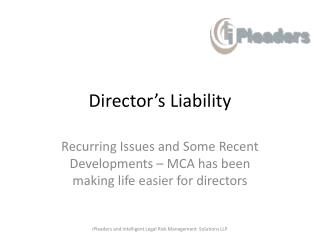 Director's Liability
