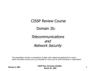 CISSP Review Course Domain 2b: