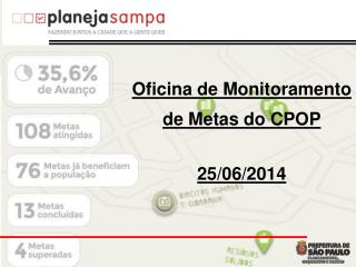Oficina de Monitoramento de Metas  do  CPOP 25/0 6 /2014