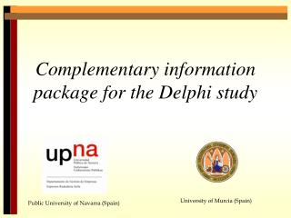 Complementary information package for the Delphi study