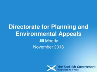 Directorate for Planning and Environmental Appeals