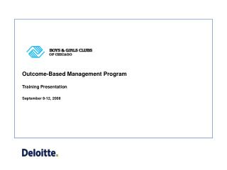 Outcome-Based Management Program
