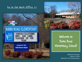 Welcome to Rama Road Elementary School!