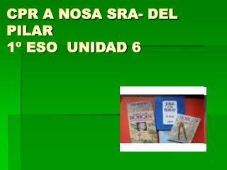 CPR A NOSA SRA- DEL PILAR 1º ESO  UNIDAD 6