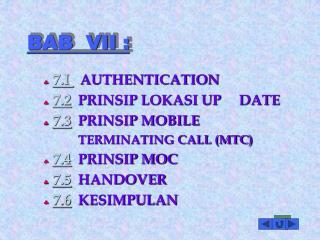 BAB  VII :