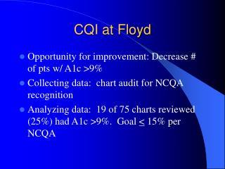 CQI at Floyd