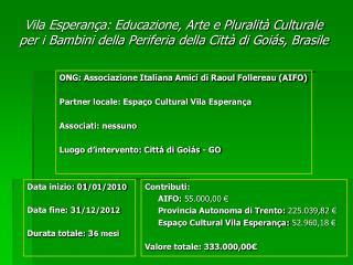 ONG: Associazione Italiana Amici di Raoul Follereau (AIFO)
