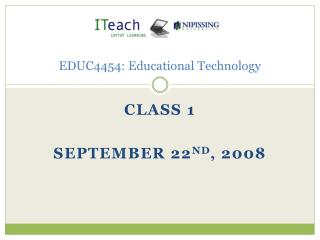 EDUC4454: Educational Technology
