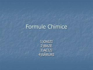 Formule Chimice