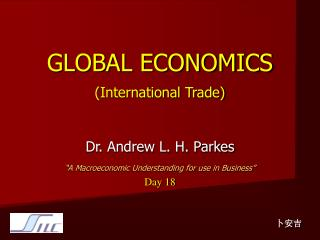 GLOBAL ECONOMICS (International Trade)