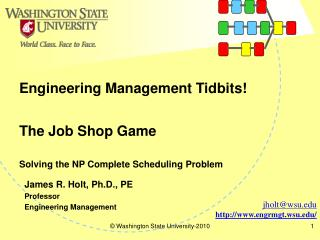 The Job Shop Game