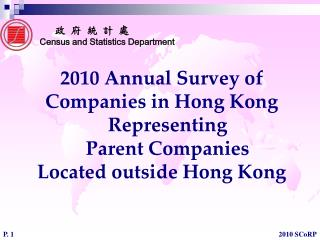 2010 Annual Survey of  Companies in Hong Kong Representing  Parent Companies