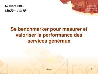 Se benchmarker pour mesurer et valoriser la performance des services généraux