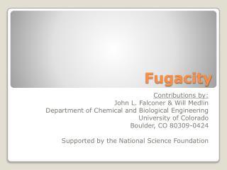 Fugacity