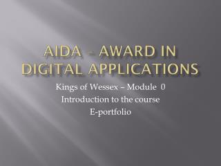 AiDA  – Award in Digital Applications