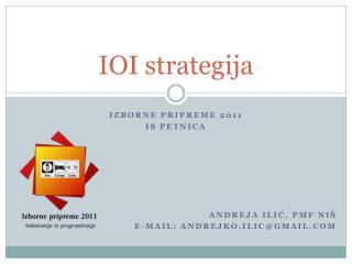 IOI  strategija