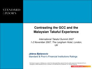 Jelena Bjelanovic Standard & Poor's Financial Institutions Ratings