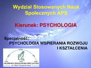 Wydział Stosowanych Nauk  Społecznych APS