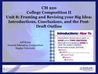 Jeff Kosse General Education, Composition Kaplan University