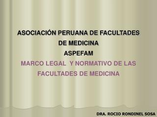 ASOCIACIÓN PERUANA DE FACULTADES DE MEDICINA ASPEFAM