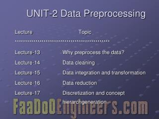 UNIT-2 Data Preprocessing