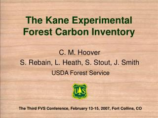 The Kane Experimental Forest Carbon Inventory