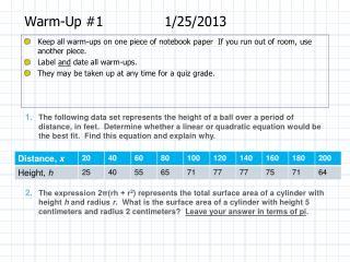 Warm-Up #11/25/2013