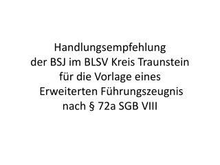 Information § 72a SGB VIII – Tätigkeitsausschluss einschlägig vorbestrafter Personen