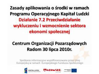 MAZOWIECKA JEDNOSTKA WDRAŻANIA PROGRAMÓW UNIJNYCH ul. Jagiellońska 74, 03-301 Warszawa