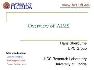 Overview of AIMS