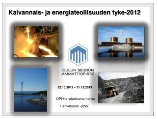 Kaivannais- ja energiateollisuuden tyke-2012