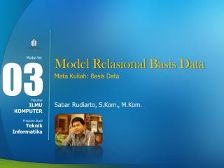 Model  Relasional  Basis Data